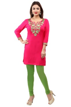 Rayon Embroidered Kurtis Wholesale Rate EYON 01A