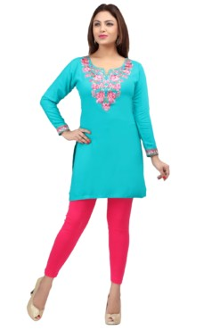 Rayon Embroidered Kurtis Wholesale Rate EYON 01B