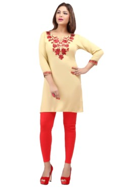 Rayon Embroidered Kurtis Wholesale Rate EYON 01C