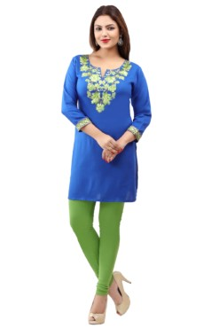 Rayon Embroidered Kurtis Wholesale Rate EYON 01D