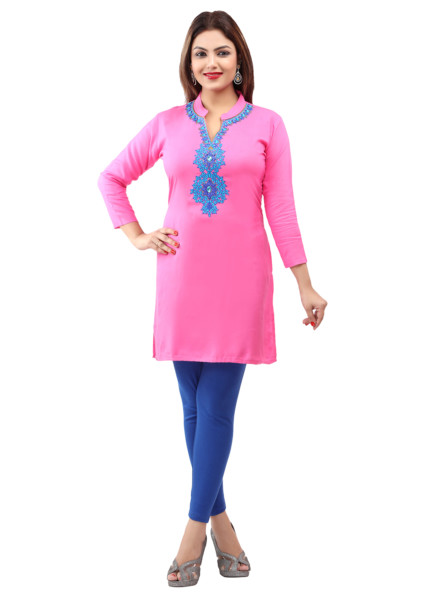 Rayon Embroidered Kurtis Wholesale Rate EYON 02B