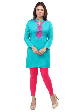 Rayon Embroidered Kurtis Wholesale Rate EYON 02C