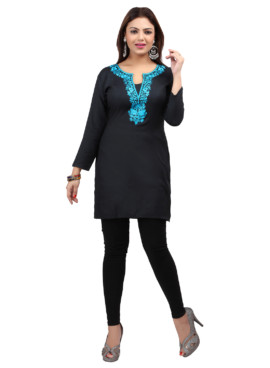 Rayon Embroidered Kurtis Wholesale Rate EYON 03A