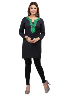 Rayon Embroidered Kurtis Wholesale Rate EYON 03C