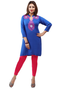 Rayon Embroidered Kurtis Wholesale Rate EYON 04A