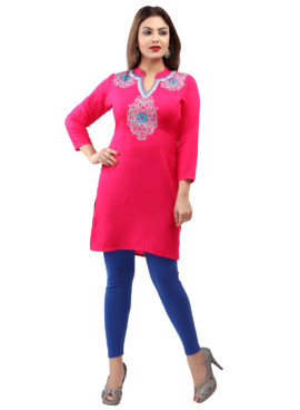 Rayon Embroidered Kurtis Wholesale Rate EYON 04B