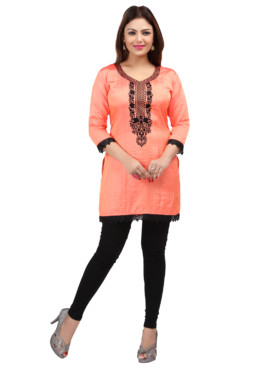 Nylon Silk Embroidered Kurtis Wholesale Rate EYON 05B