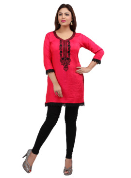Nylon Silk Embroidered Kurtis Wholesale Rate EYON 05C