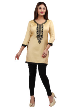 Nylon Silk Embroidered Kurtis Wholesale Rate EYON 05D