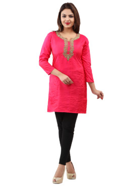 Georgette With Lining Embroidered Kurtis Wholesale Rate EYON 06A
