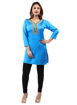 Georgette With Lining Embroidered Kurtis Wholesale Rate EYON 06C